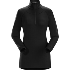 Arc'teryx Satoro AR Zip Neck LS Baselayer Dame Black